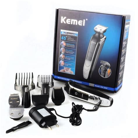 Kemei Rechargable 8 In 1 Grooming Kit Shaver Clipper Hair Km 680a kemei km 1832 5in1 washable electric shaver and multi grooming kit bd bazaar24