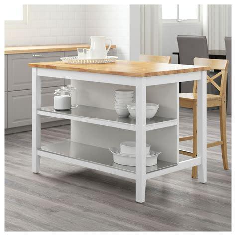 STENSTORP Îlot pour cuisine Blanc/chêne 126x79 cm   IKEA