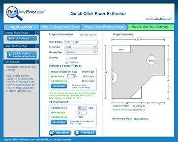 flooring estimator by findanyfloor