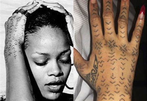 rihanna s 24 tattoos amp their meanings body art guru