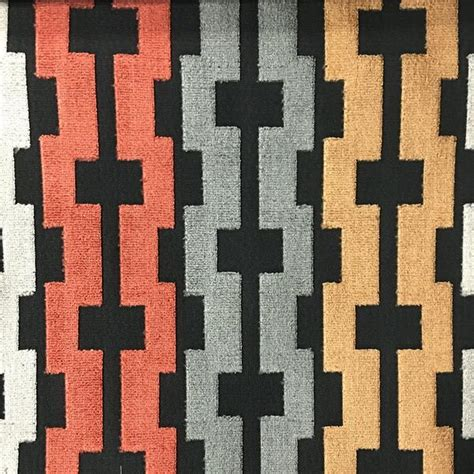 square pattern fabric name piccadilly geometric cut velvet upholstery fabric by the