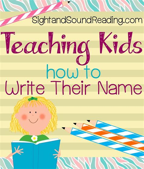 teaching a child to write their name