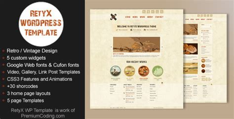 wordpress old layout retyx vintage retro blog wordpress theme by gljivec