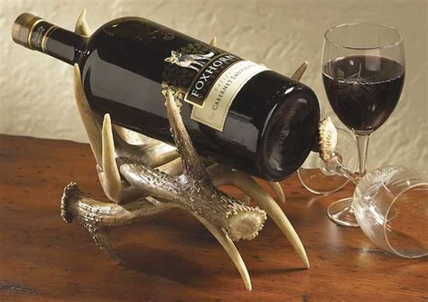 antler wine rack antler wine bottle holder eclectic wine racks by wings
