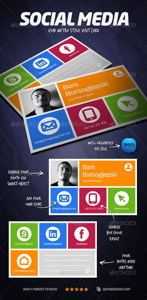 social media comment cards templates social media visit card graphicriver