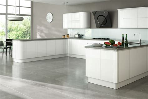 White Gloss Kitchen Cabinets | larissa white gloss handleless kitchen proline cabinets