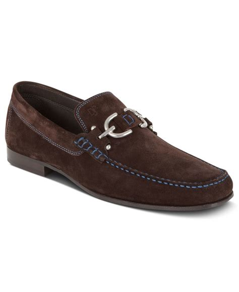 donald pliner loafers donald j pliner dacio bit loafers in brown for lyst