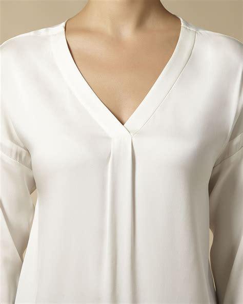 White Silk Blouse V Neck by White Silk Blouse V Neck Blouse Styles