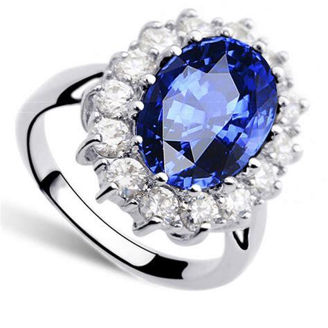 Princess Same Paragraph Sapphire Ring 8 Cincin Berlian Blue princess same paragraph sapphire ring 8 cincin berlian