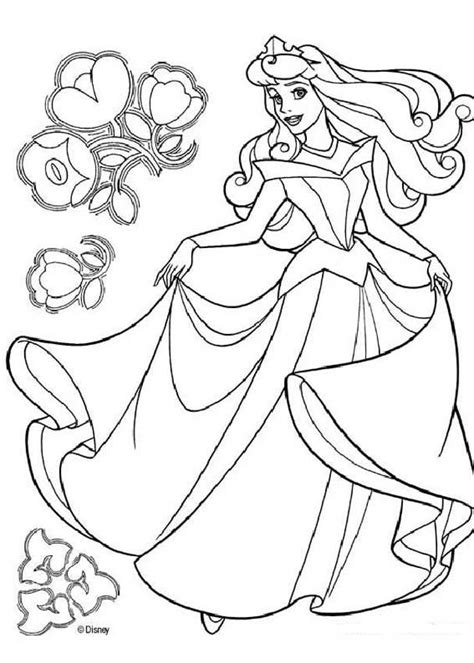 printable aurora crown princess aurora dancing coloring pages hellokids com