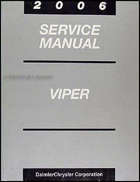 service manual repair manual 2006 dodge viper download windshield wiper service manual 2006 dodge viper repair shop manual original