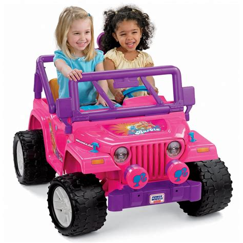 barbie jeep power wheels barbie jammin jeep wrangler by fisher price