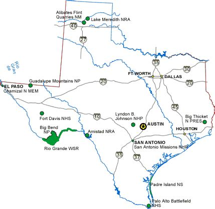 flint texas map texas national parks national parks gallery
