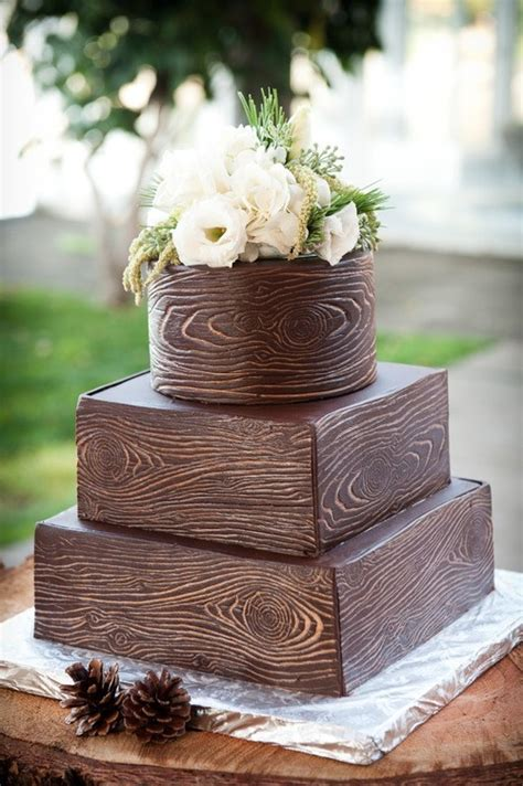 wood grain cake   rustic wedding dream cake