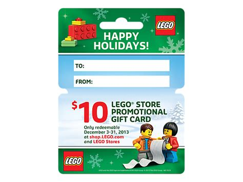 List Of Gift Cards - 10 lego promotional gift card lego shop
