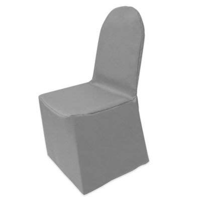 gray banquet chair covers buy gray chairs from bed bath beyond