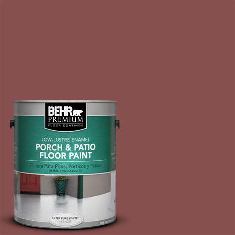 behr premium 1 gal 160f 6 boston brick low lustre porch