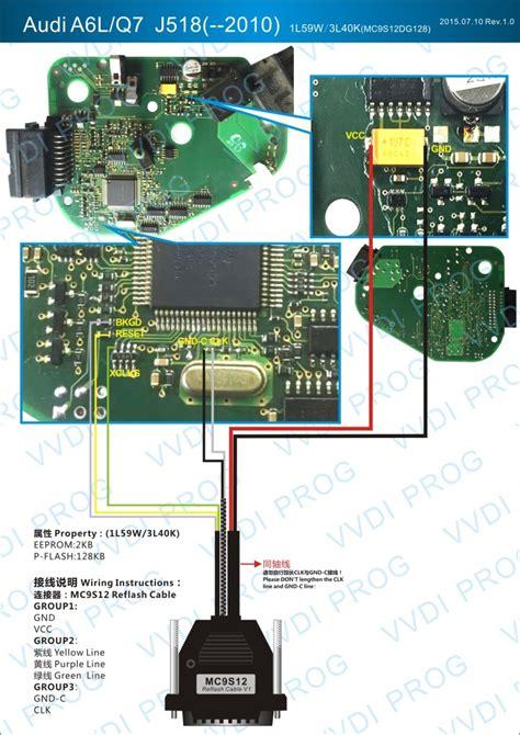 audi a6l q7 j518 module vvdi prog wiring diagram auto