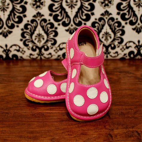 toddler shoes size 7 pink with white polka dot toddler squeaky shoes