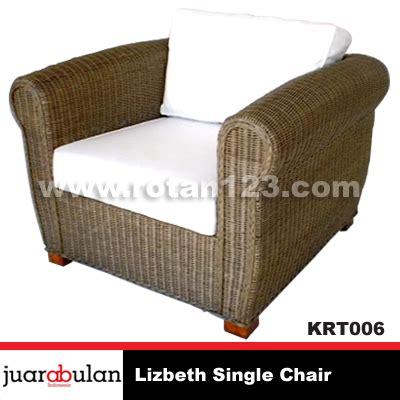 Kursi Rotan Alami harga jual lisbeth single chair kursi rotan alami model