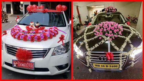 beautiful wedding car decoration bridal car flowers