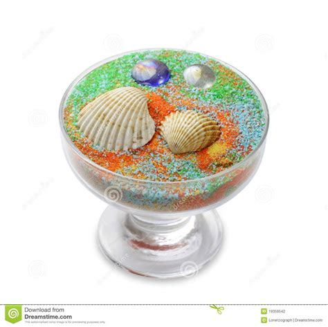 vasi con sabbia colorata vaso con sabbia di mare fotografia stock immagine di