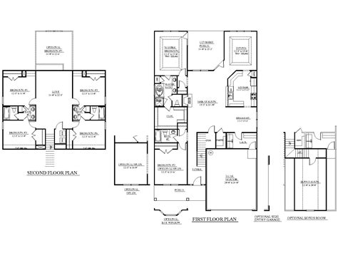 house over garage floor plans house plan 3128 d the white oak quot d quot big plan with small