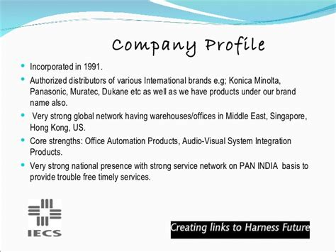 how to make a company profile template company profile