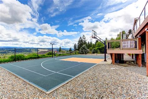 backyard basketball court cost basketball court in backyard cost home design