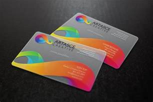 plastic business cards clear plastic business cards artasce creative