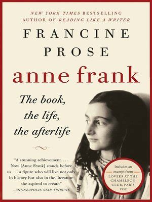 anne frank biography extract anne frank by francine prose 183 overdrive ebooks