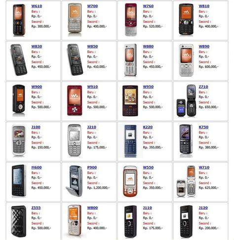 harga handphone sony ericsson handphone carapedia