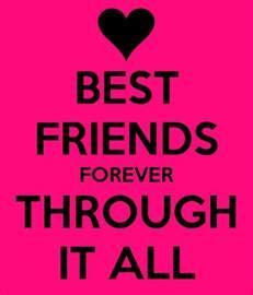 best friend best friends forever through it all poster kalli keep