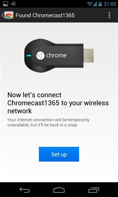 chromecast setup android chromecast getting started guide streambly