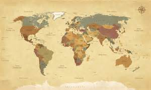 Full Wall Mural Decals mural vintage world map walldesign56 wall decals