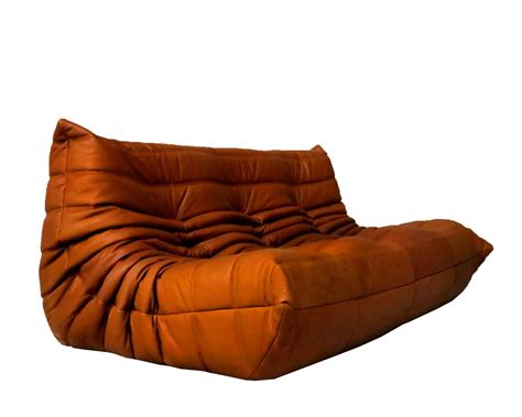 togo sectional cognac leather ligne roset togo sofa set designed by