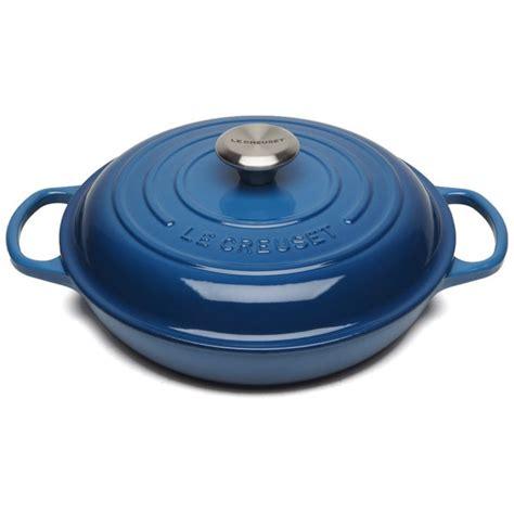 le creuset light blue casserole dish le creuset signature cast iron shallow casserole dish