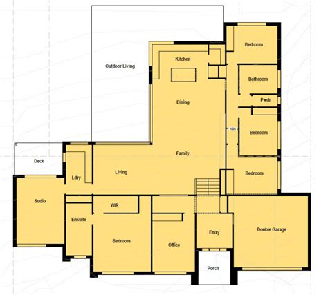 floor plan friday 4 bedroom home suited for corner block