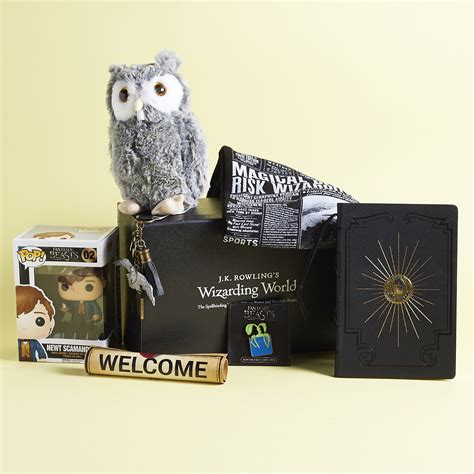 j k rowlings wizarding world j k rowling s wizarding world crate review coupon november 2016 my subscription addiction