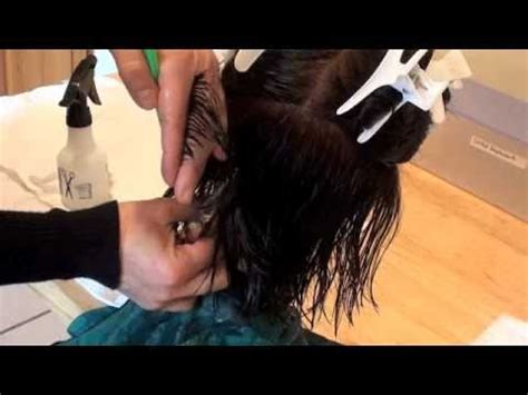 stateboard 90 degree haircut step by step cosmetology haircut 1 2 razor scissors demo for state