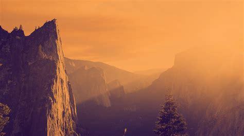 warm colors orange purple mountains wallpapers hd