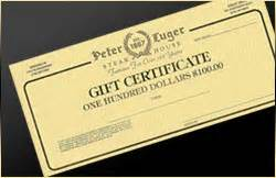 Peter Lugers Gift Card - welcome to peter lugers steakhouse