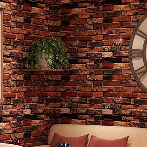 Zc Wallpaper Sticker Brown Brick Texture yancorp yancorp waterproof self adhesive wallpaper rust