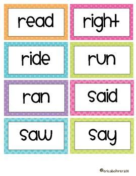 polka dot word wall words editable wall words
