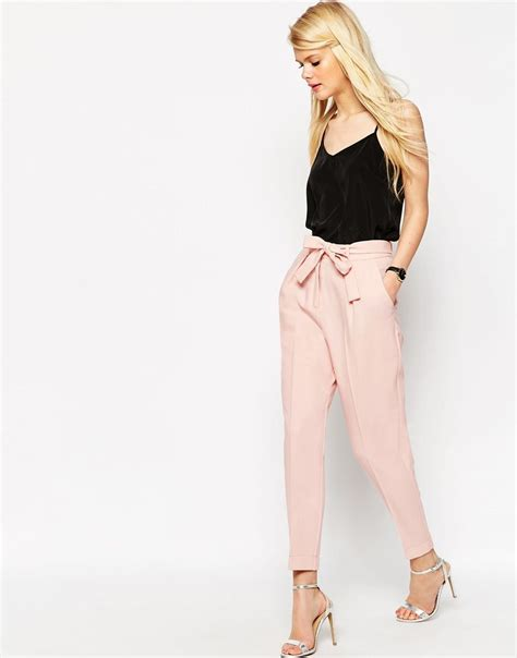 Obi Style Sash Belt At Asos by Asos Woven Peg Trousers With Obi Tie Summer Style