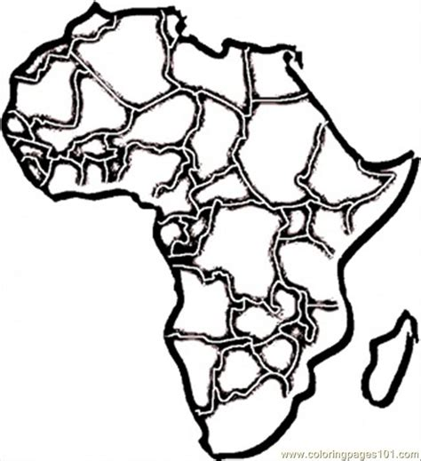 free coloring pages of map of africa