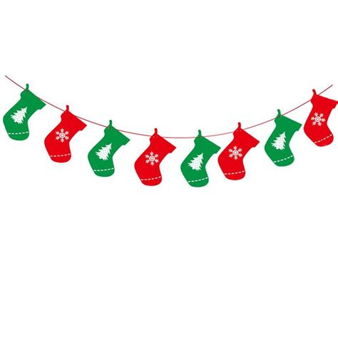 christmas stocking flag bunting garland banner party decoration  banners streamers