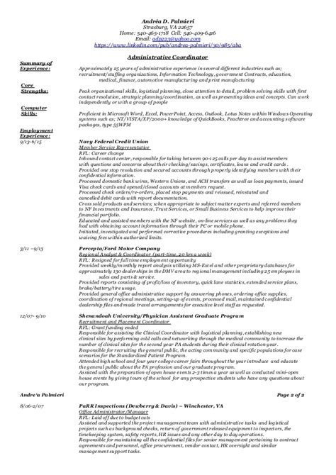 Administrative Functional Resume 2 Functional Resume Template For Administrative Assistant