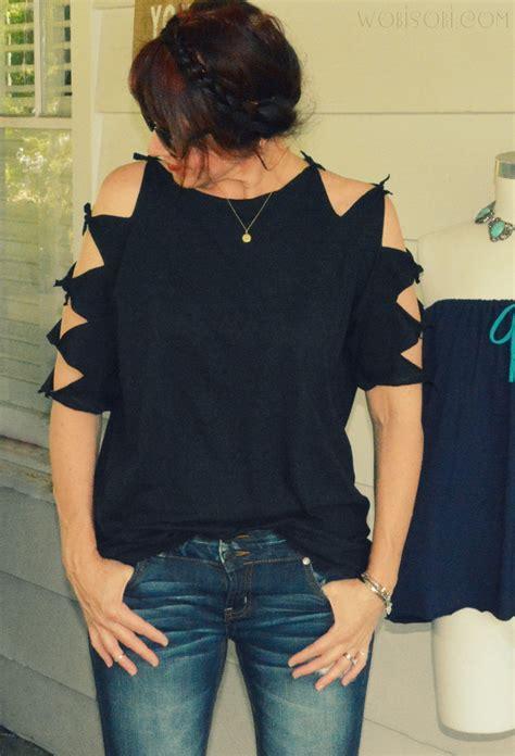 Outshoulder Shirt wobisobi shoulder shirt diy