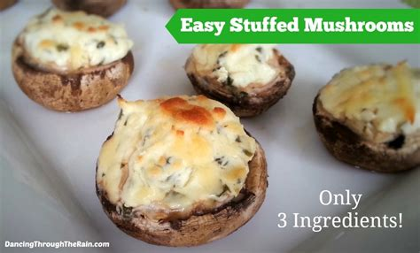 vegetarian stuffed mushrooms recipe easy stuffed mushrooms only three ingredients